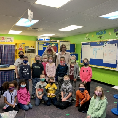 Colleen Kelly and class