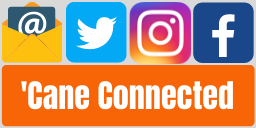 cane connected with social media icons