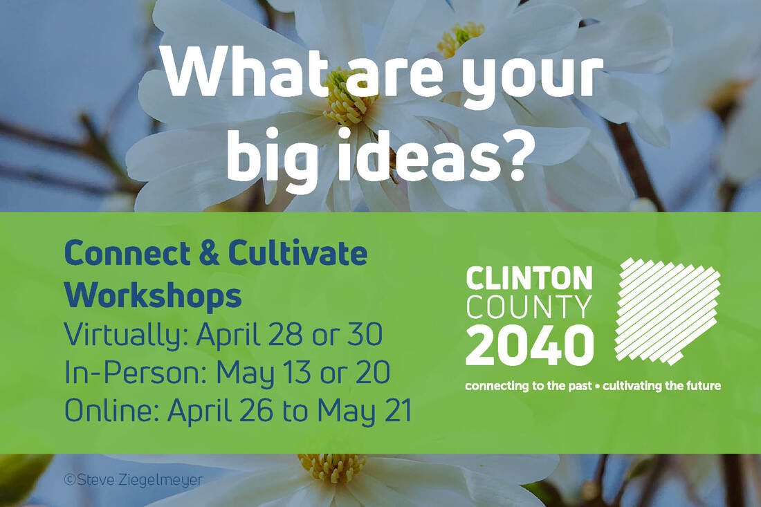 Link to connect and cultivate workshop information and sign up at clinton county regional planning commission website