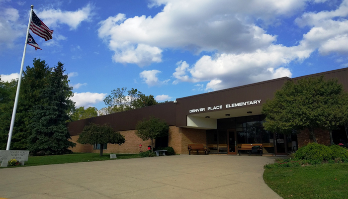 Outside of main entrance at Denver Place School