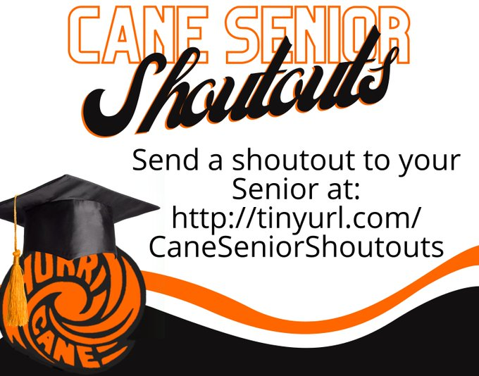 Link to Cane Senior Shoutouts online form